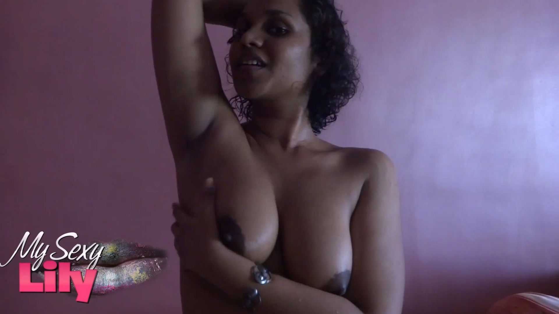 Lily vid gal 7. South desi babe lily licking her shaved armpits